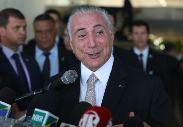 O presidente Michel Temer em cerimônia no Itamaraty (Foto: Antonio Cruz/Agência Brasil)