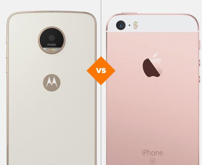 Moto Z Play e iPhone SE: veja comparativo de ficha técnica  (Foto: Foto: Arte/TechTudo)