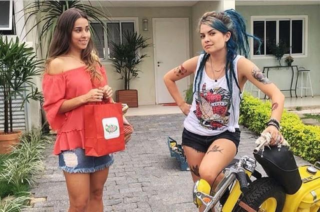 Lua Blanco e Thati Lopes em 'Ela é o cara' (Foto: Divulgação)