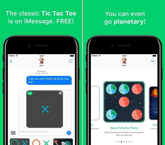O jogo da velha é simples, mas um clássico divertido presente no iMessage (Reprodução/App Store)