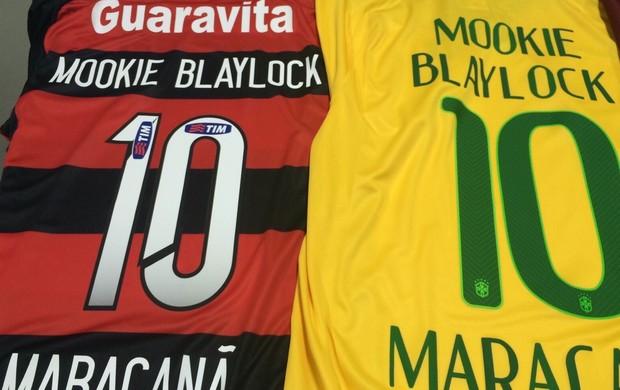 Camisas Flamengo e Brasil, homenagem Maracanã Pearl Jam