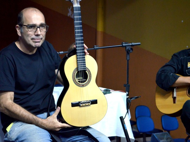 Ivan Vilela ministrou uma masterclass voltada para alunos avançados e professores (Foto: Rafael Rodrigues/ G1)