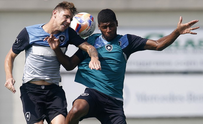 Dierson e Emerson treino Botafogo (Foto: Vitor Silva/SSPress)