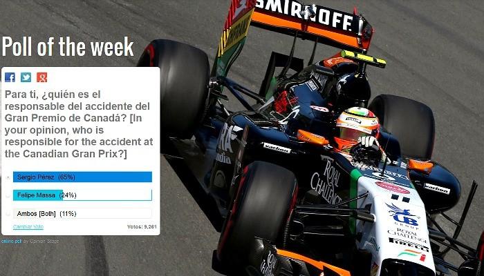 Enquete no site oficial de Sergio Pérez - 2