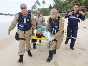 Ramiro foi encontrado na Praia de Tambaba no  sábado (Foto: Walter Paparazzo/G1)