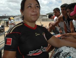 Poliana Campos, torcedora, campinense (Foto: Phelipe Caldas / Globoesporte.com/pb)