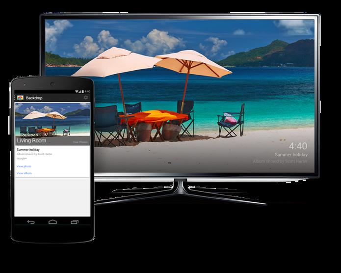 Backdrop possibilita troca de imagens de descanso da TV (Foto: (Divulgação))