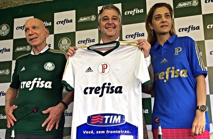 Palmeiras apresenta patrocínio da Crefisa