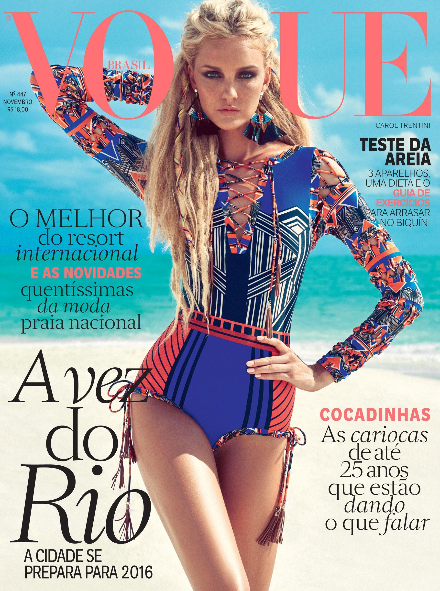 Carol trentini estrela a vogue brasil de novembro vogue news Revista fashion style magazine