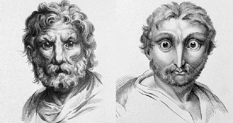 Hipótese de Le Brun para a evolução do leão e da coruja (Foto: Reprodução/Charles Le Brun)