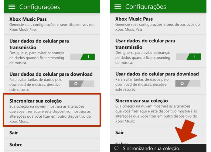 Sincronize as faixas com o OneDrive (Foto: Reprodução/Paulo Alves)