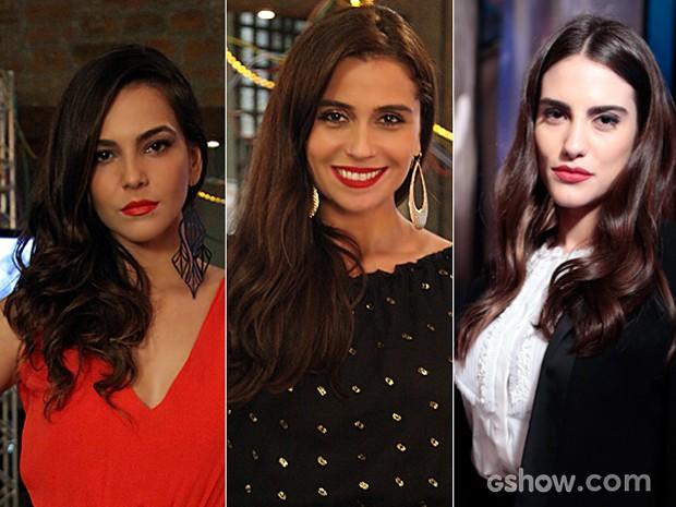Em tonalidades variadas, o batom vermelho foi o queridinho das personagens (Foto: Camila Camacho / Felipe Monteiro / TV Globo)