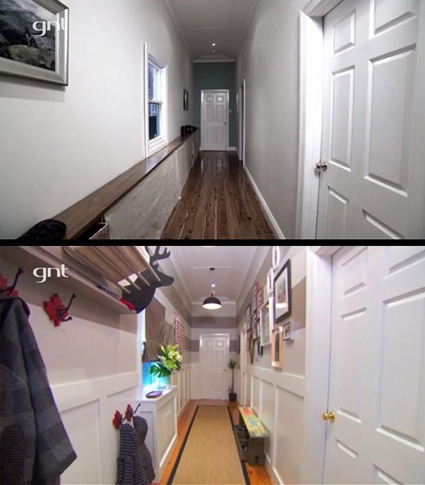 antes e depois, rei da reforma, ep4, corredor (Foto: Divulgao/GNT)