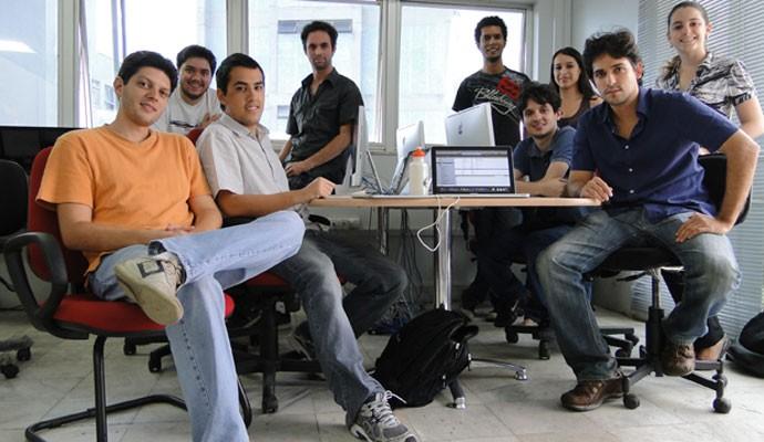 Equipe da startup mineira LivoBooks, que desenvolve e-books infantis interativos em forma de aplicativos.