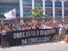 Greve faz 1 semana e profissionais da educação voltam às ruas de Cabo Frio