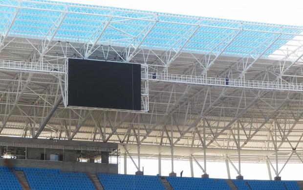 arena telão grêmio (Foto: Lucas Rizzatti/Globoesporte.com)