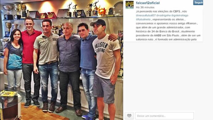 Liderados por Falcão, jogadores apoiam candidatura de Ramon a presidência das CBFS (Foto: Reprodução/ Instagram)