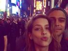 Sophia Abrahão e Sergio Malheiros fazem passeio romântico em NY
