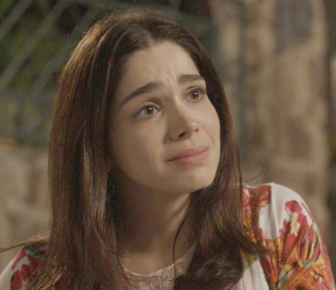 O arrependimento de Apolo toca Shirlei (Foto: TV Globo)