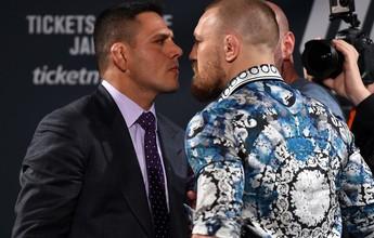 """Dos Anjos ignora McGregor, mas avisa: """"Não se esconda atrás do cinturão"""""""