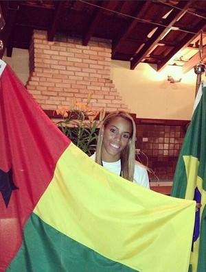 taciana lima judo guiné-bissau (Foto: Reprodução/Twitter)