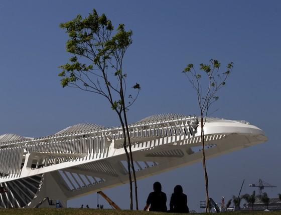A arquitetura do Museu do Amanhã no Rio de Janeiro. Os traços lembram uma bromélia da Mata Atlântica (Foto: Reuters)