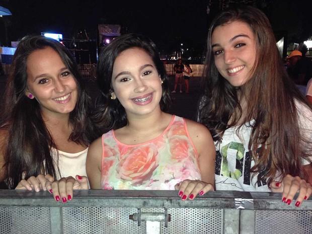 Gabriela Ribeiro, 16, Carol Passos, 1, Marcela Botelho (Foto: Rafaela Ribeiro/G1)