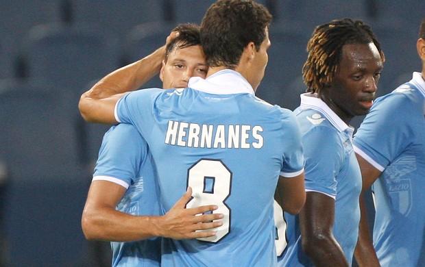 Zarate e Hernanes, Lazio x Mura (Foto: Agência Getty Images)