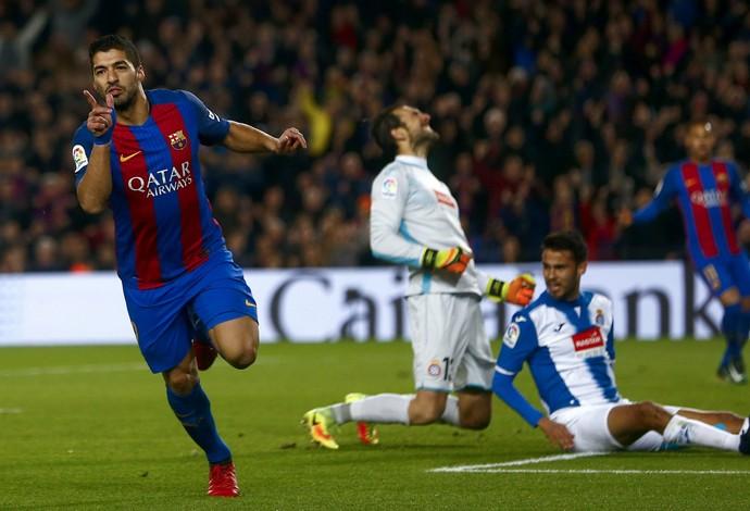 Luis Suarez Barcelona x Espanyol (Foto: EFE)