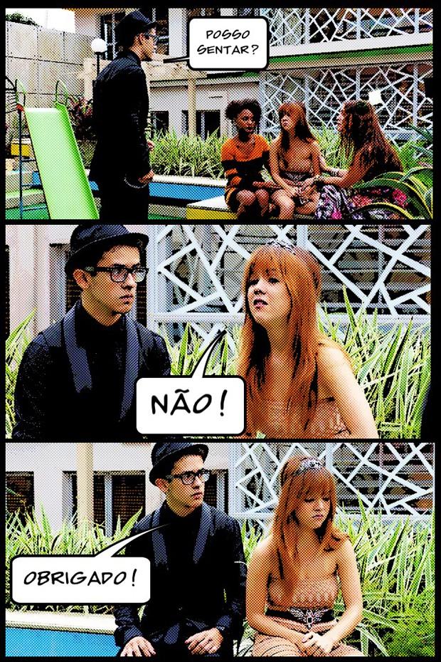 Orelha é troll ate quando não tem que ser!! (Foto: Malhação / TV Globo)