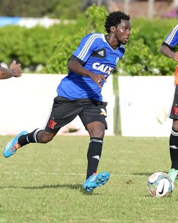 Hernane e Negueba treino Flamengo (Foto: Alexandre Vidal/Fla Imagem)