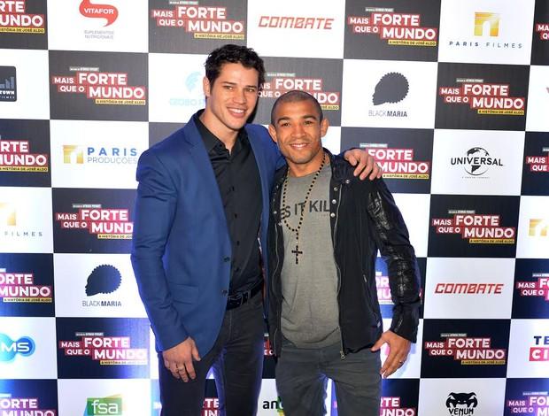 BLOG: José Aldo recebe celebridades em lançamento do filme que narra sua vida