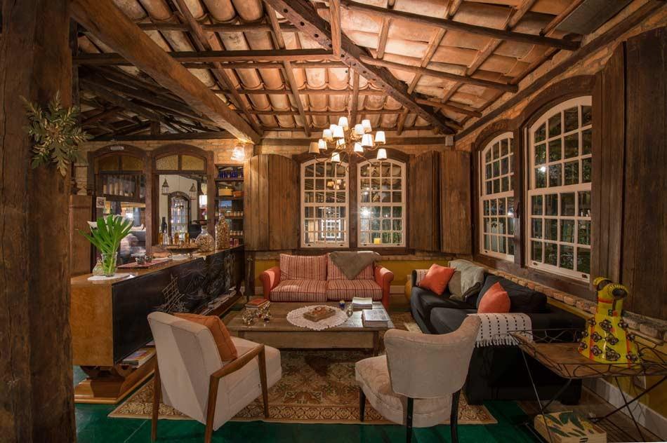 Lounge da pousada Ronco do Bugio