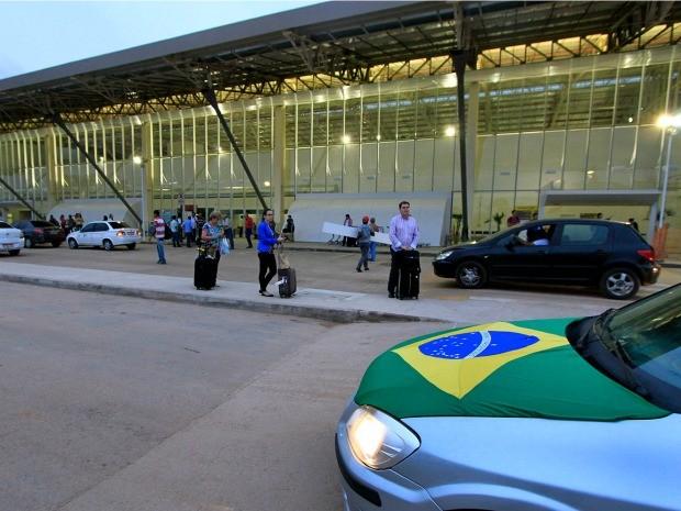 Segundo o governo, parte das obras do aeroporto ainda deverão seguir durante a Copa em Cuiabá. (Foto: Edson Rodrigues / Secopa)
