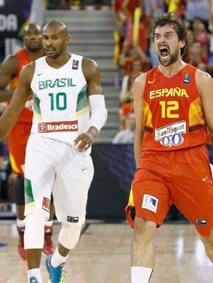 Sergio Llull, Brasil X Espanha (Foto: Reprodução / Twitter FEB)
