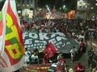 Manifestantes protestam contra impeachment em algumas cidades