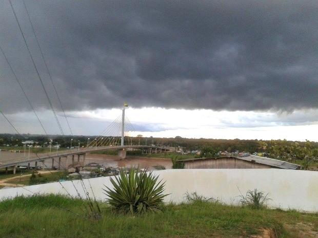 Sipam alerta para possibilidade de temporais no Acre  (Foto: Vanísia Nery/ G1)