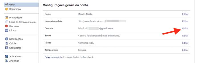 Tela de edição de informações gerais de uma conta do Facebook (Foto: Reprodução/Marvin Costa) (Foto: Tela de edição de informações gerais de uma conta do Facebook (Foto: Reprodução/Marvin Costa))