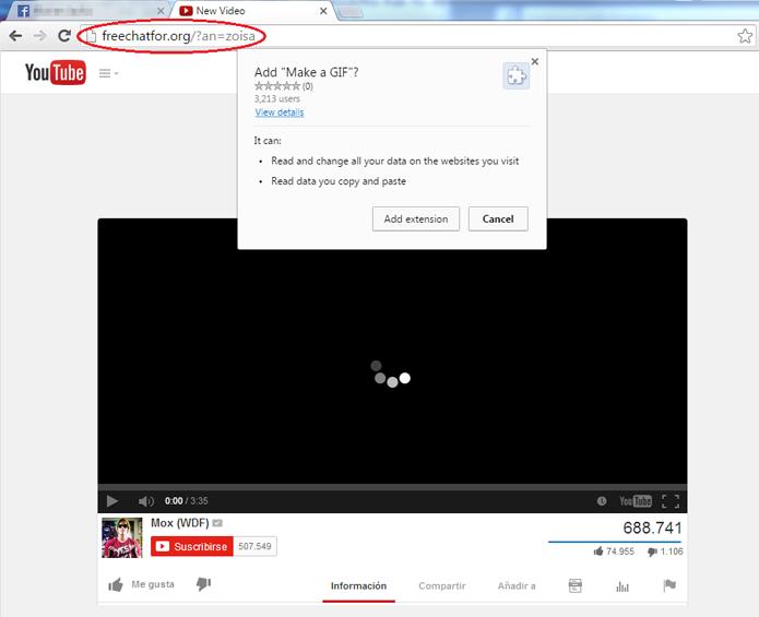Golpe usa site falso do YouTube para espalhar malware no Facebook (Foto: Divulgação/ESET)