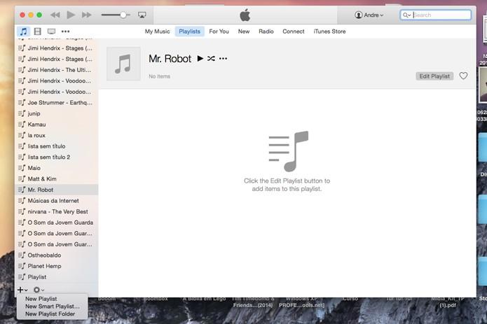 Crie uma nova playlist no iTunes (Foto: Reprodução/André Sugai)