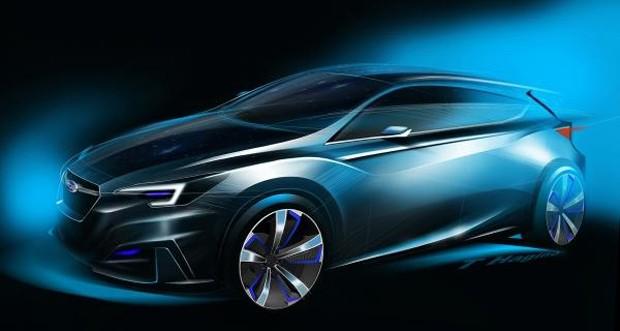 Dianteira do Subaru Impreza 5-door Concept (Foto: Divulgação)