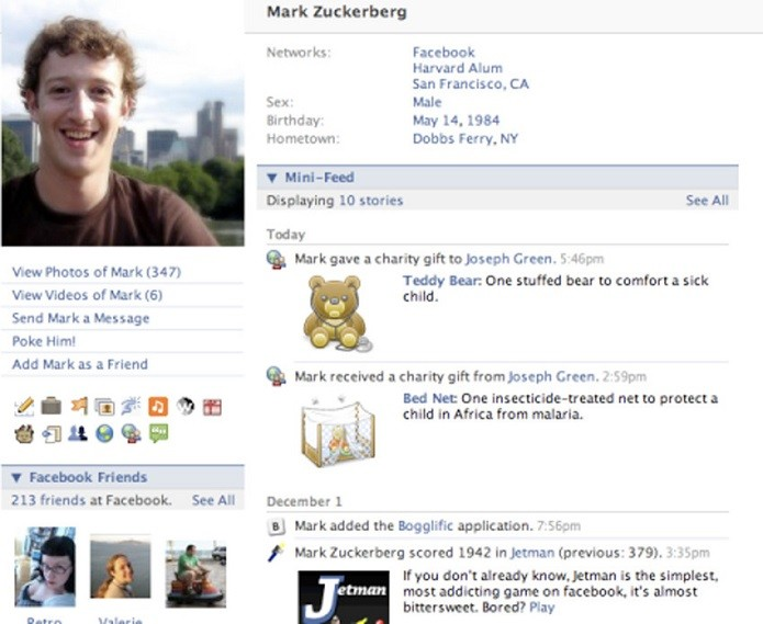 Em outra de 2007, Mark aparece mais jovem (Foto: Divulgação/Facebook NewsRoom)