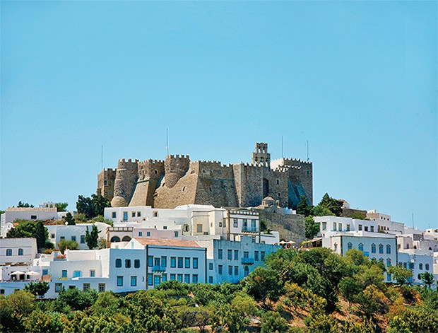 historic holly monastery in Patmos island Greece (Foto: Getty Images/iStockphoto)