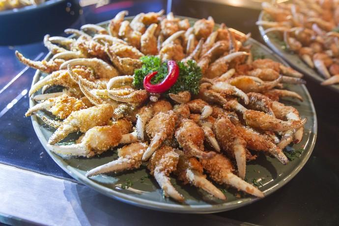 Prato típico, unha de caranguejo fez sucesso na festa (Foto: Artur Meninea/Gshow)