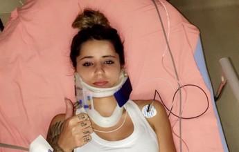 Após queda feia, Leticia Bufoni posta foto imobilizada, mas tranquiliza fãs