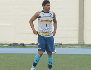 Elkeson, treino do Botafogo (Foto: Thales Soares / Globoesporte.com)
