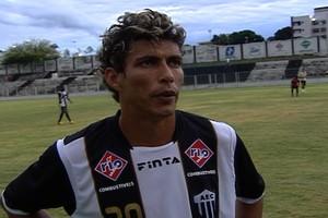 Romário Zagueiro Araxá Esporte (Foto: Reprodução/TV Integração)