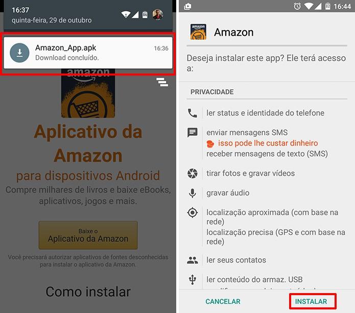 Amazon Appstore precisa de confirmação do usuário para ser instalada (Foto: Reprodução/Elson de Souza)