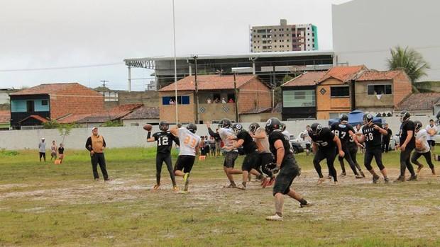 Treze Roosters 6 x 14 Ceará Fênix, em Campina GRande, pelo Campeonato Brasileiro de Futebol Americano 2013 (Foto: Divulgação / Treze Roosters)