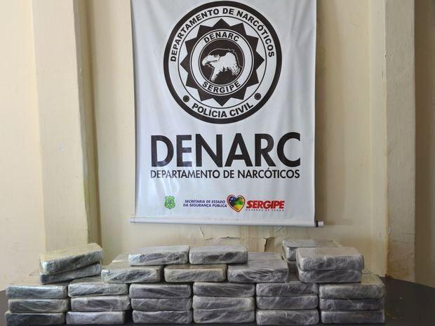 Esta foi a maior apreensão de crack já registrada em Sergipe (Foto: Marina Fontenele/G1 SE)